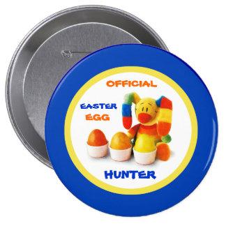 Caçador oficial do ovo da páscoa. Botão do present Boton