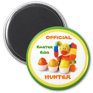 Caçador oficial do ovo da páscoa. Ímã do presente  Imãs De Geladeira