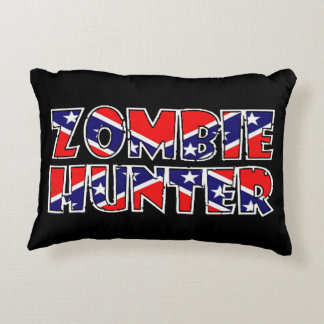 Caçador rebelde do zombi almofada decorativa