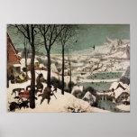 Caçadores na neve por Pieter Bruegel Poster