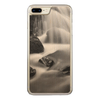 Cachoeira de B&W, Califórnia Capa iPhone 8 Plus/ 7 Plus Carved