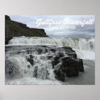 Cachoeira de Gullfoss, Islândia, poster