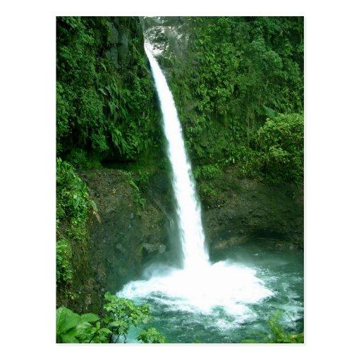 Cachoeira de La Paz, Costa Rica Cartão Postal