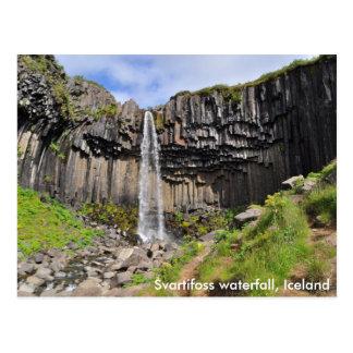 Cachoeira de Svartifoss, Islândia Cartão Postal