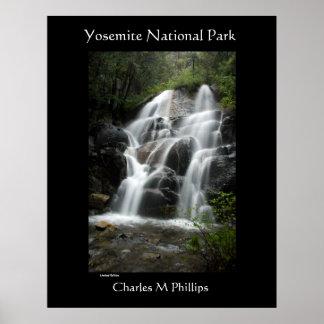 Cachoeira do parque nacional de Yosemite Poster