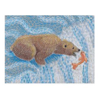 Cachoeira do urso de urso cartão postal
