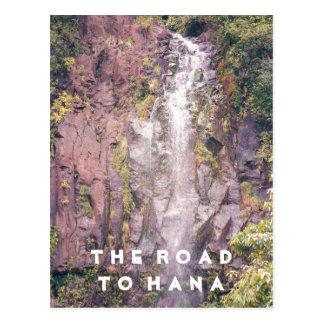 Cachoeira na estrada ao cartão de Hana | Cartão Postal