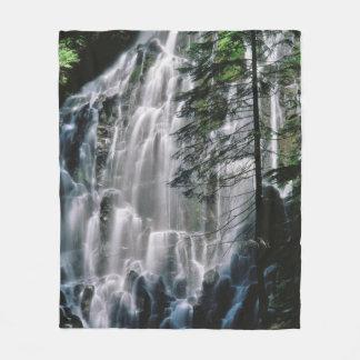 Cachoeira na floresta, Oregon Cobertor De Lã