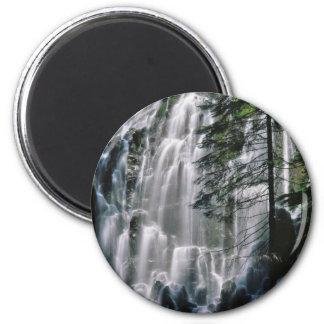 Cachoeira na floresta, Oregon Ímã Redondo 5.08cm