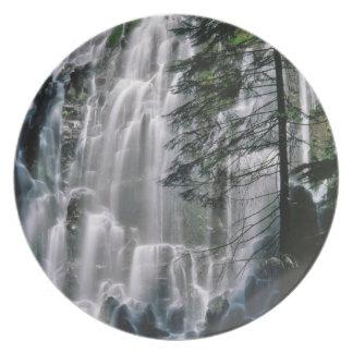 Cachoeira na floresta, Oregon Louça De Jantar
