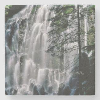Cachoeira na floresta, Oregon Porta-copos De Pedra