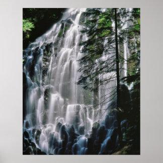 Cachoeira na floresta, Oregon Pôster