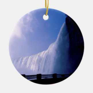 Cachoeira Niagara Falls Ornamento De Cerâmica Redondo