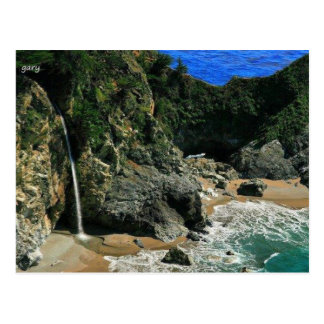 Cachoeira pelo mar cartão postal