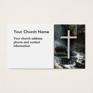Cachoeiras com o cartão de visita cristão
