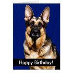 Cachorrinhos do feliz aniversario cartão