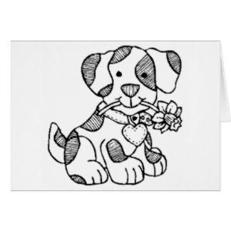 cachorro.png cartão comemorativo