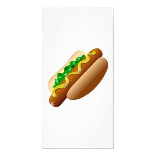 Cachorro quente cartao com foto personalizado