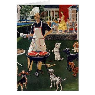 Cachorros quentes cartão comemorativo