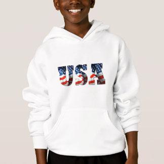 CAÇOA a camisola retro patriótica do Hoodie da