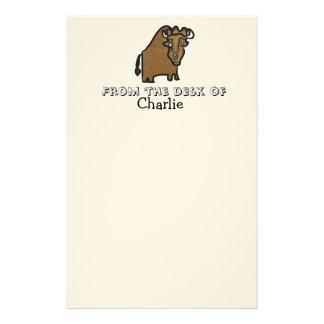 Caçoa o papel de carta personalizado búfalo papelaria personalizada