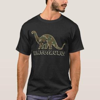 Caçoa o pirralho Bratosaurus do dinossauro do camo Camiseta