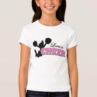 caçoa o t-shirt curto da luva do cheerleader