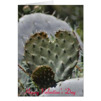 Cacto do dia dos namorados cartão comemorativo