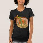 Cacto do por do sol da ARIZONA Tshirts