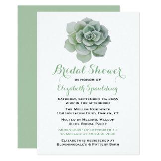 Cacto floral do Succulent do chá de panela do Convite 12.7 X 17.78cm