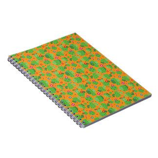 Cacto mim caderno da parte externa (alaranjada) -