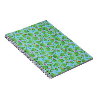 Cacto mim caderno da parte externa (azul) -