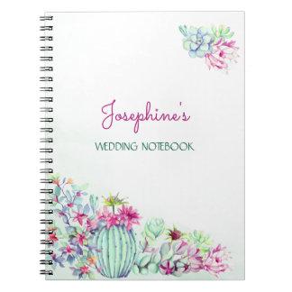 Cacto & Succulents que Wedding o caderno do