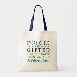 Cada criança autística é citações dotado do bolsa tote