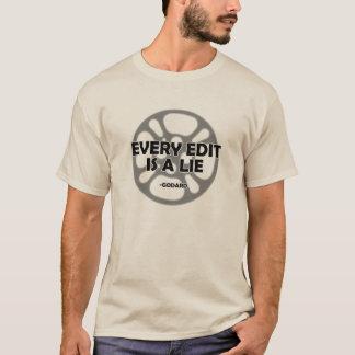 Cada Edit é uma mentira - Godard - camisa
