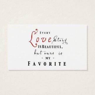Cada Love Story é cartão bonito da agência de