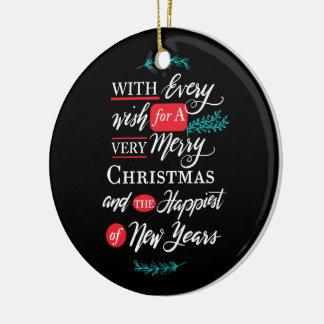 Cada ornamento do feriado do desejo