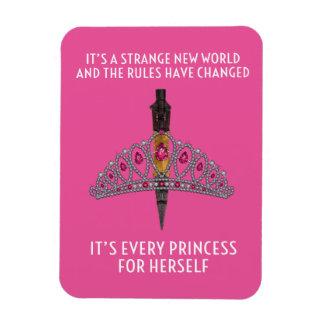 "Cada princesa Cor-de-rosa 3"""" ímã da foto x4"