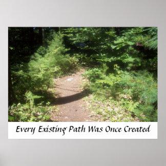 Cada trajeto existente foi criado uma vez pôsteres