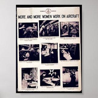 Cada vez mais trabalho das mulheres em aviões impressão
