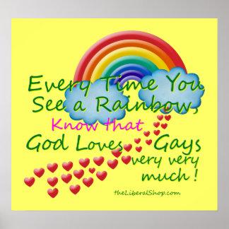 Cada vez que você vê um poster do arco-íris
