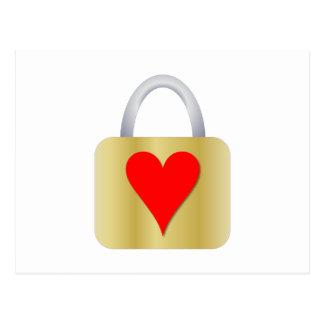 Cadeado do amor cartão postal