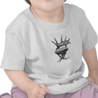 Cadeira dos antlers do veado tshirts
