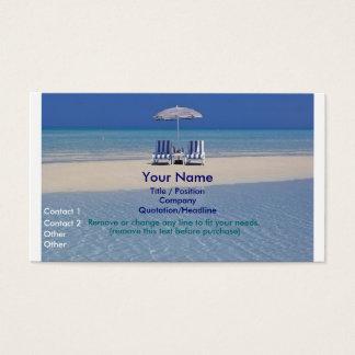 Cadeiras de praia no cartão de visita II do