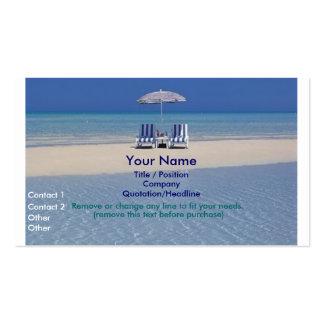 Cadeiras de praia no cartão de visita II do Sandba