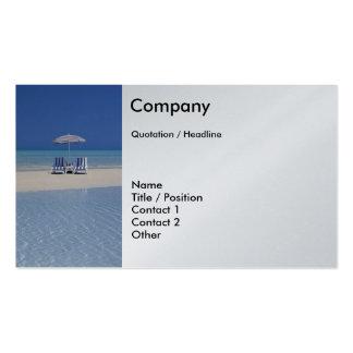 Cadeiras de praia no modelo de cartão de negócios  cartao de visita