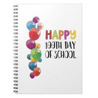 Caderno 100th dia feliz da escola. Balões