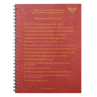 Caderno 16 regras de ouro da carta patente do analista do