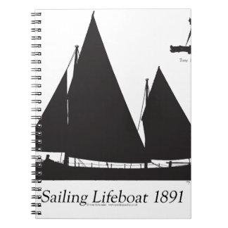 Caderno 1891 barcos salva-vidas de navigação - fernandes