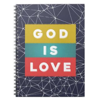Caderno 1 4:8 de John - o deus é amor